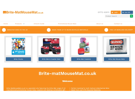 New Improved Website and Prices for Brite-MatMouseMat.co.uk